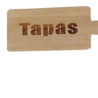 SPANISCHER PRÄSENTKORB mit Tapasbrettchen