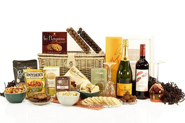 Geschenkkörbe mit Champagner EUROPEAN ELEGANCE