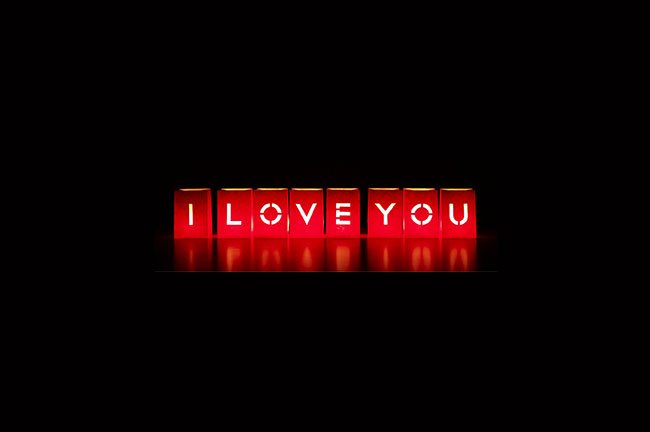 Geburtstagsgeschenke Lightbags I LOVE YOU