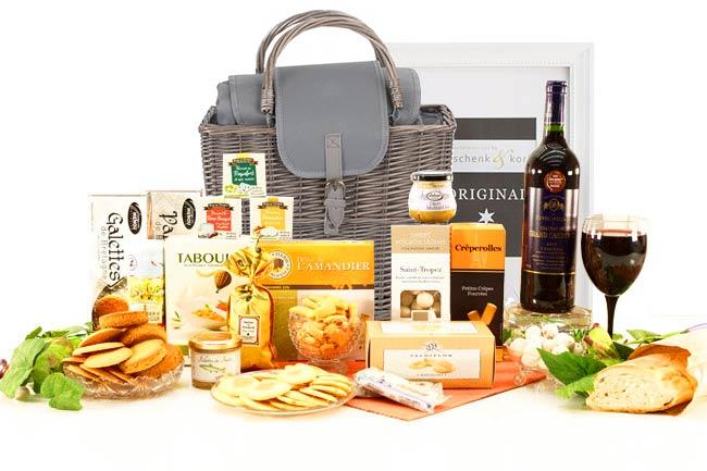 Französischer Geschenkkorb MARSEILLE  mit Wein