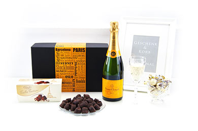 VEUVE CLIQUOT Champagner und Schokolade