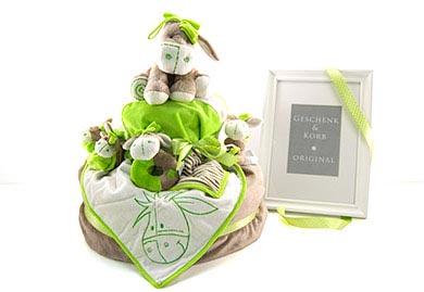 ESELCHEN Windelytorte - aufwändiges Babygeschenk