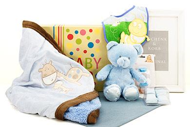 Babygeschenk BABY JUNGE KUSCHELSET mit Teddybär