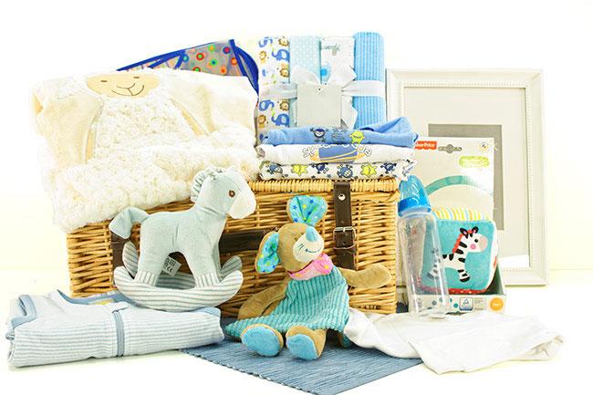 Baby Jungen Geschenkekorb Supersüß online versenden lassen