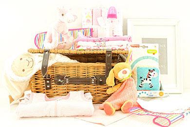 Baby Mädchen Geschenkekorb Supersüß online versenden lassen