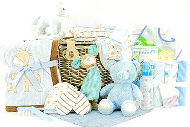 Baby Geschenkkorb für Jungen 3 - 6 Monate online Versand