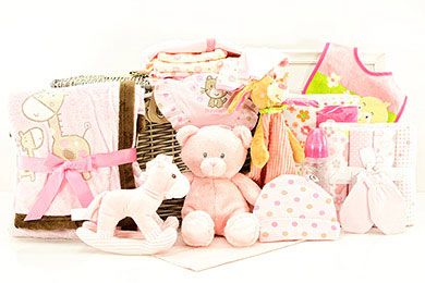 Baby Geschenkkorb für MÄDCHEN 3 - 6 Monate online Versand