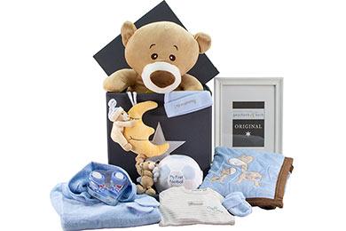BABY GESCHENKKORB FÜR JUNGEN Teddy online Versand
