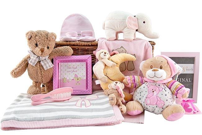 WONNEPROPPEN niedlicher Baby Geschenkkorb Mädchen