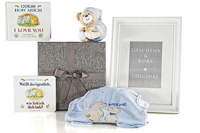 BABY GESCHENKSET BABY GLÜCK mit Buch für Jungen