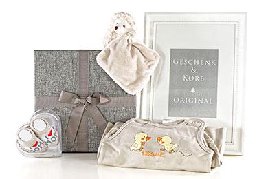 Neutrales Baby Geschenkset Igel für Jungen und Mädchen