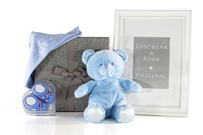 Baby Geschenkset für Jungen HIMMELBLAU Geschenkversand
