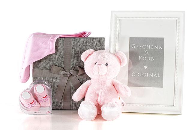 Baby Geschenkset für Mädchen ROSAROT Geschenkversand