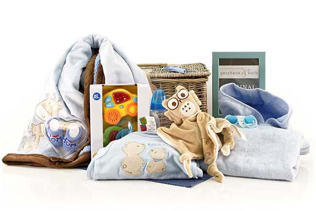 Spielzeit Baby Präsentkorb für Neugeborene Jungen