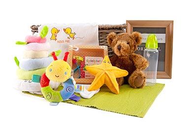 Baby Geschenkkorb mit Bukowski TEDDY & FREUNDE