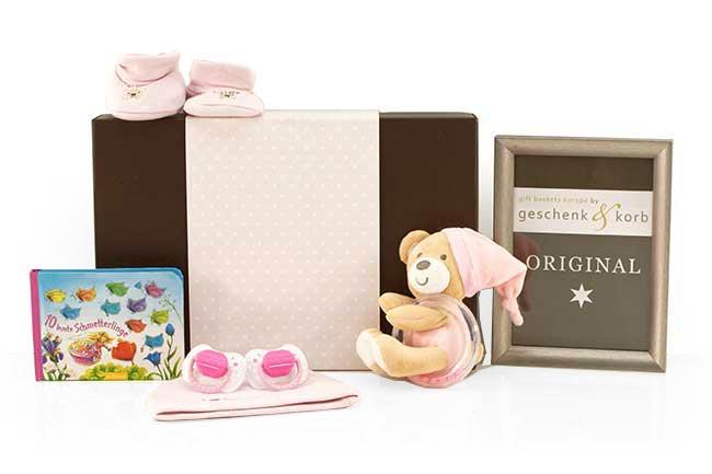 Babygeschenke für Mädchen mit Buch Bunte Schmetterlinge