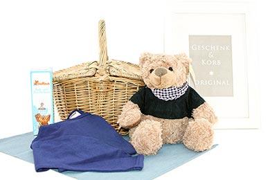 BUKOWSKIE TEDDY im Korb für Jungen 3 - 4 Jahre