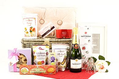 PRICKELNDER CHAMPAGNER Geschenkkorb für Frauen