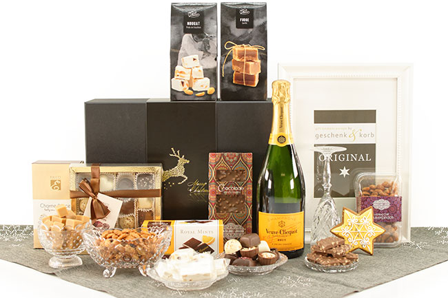 Weihnachtsgeschenk mit Veuve Champagner Edel & Fein
