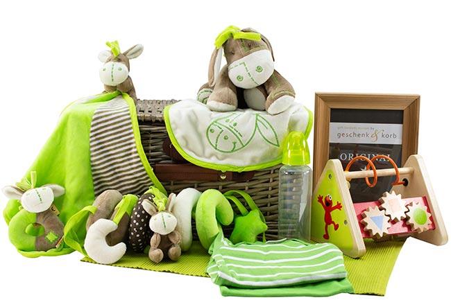 Baby Geschenkkorb für Neugeborene ESELCHEN