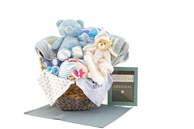 Baby Geschenkkorb mit WOW Faktor - für Jungen