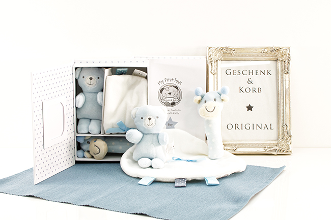 Kleine Baby Geschenke ZUR GEBURT JUNGE Geschenkset