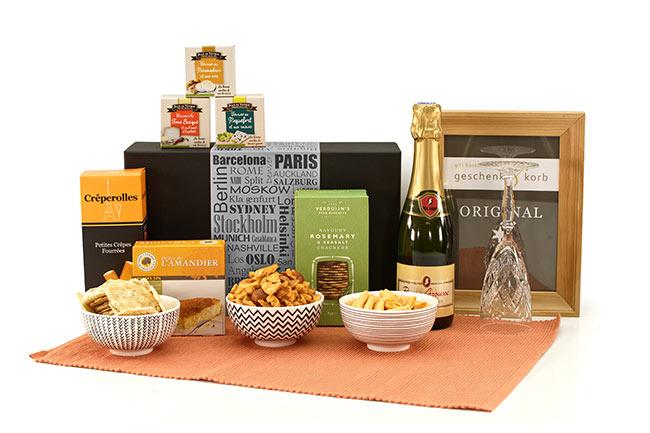 Delices - Französischer Geschenkkorb mit Sekt