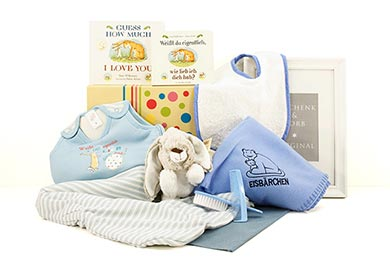 BABY GESCHENK WEISST DU WIE IN BLAU für Neugeborene