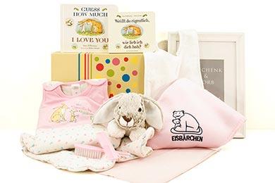 Baby Geschenkset WEISST DU WIE LIEB ICH DICH HAB