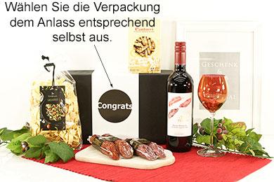 Geschenkbox ROM Italienische Spezialitäten mit Wein