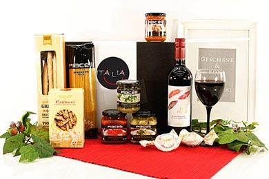 MILANO Italienischer Präsentkorb mit Rotwein