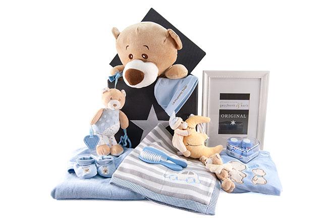 Baby Präsentkorb mit Spieluhr Its a boy für kleine Jungen