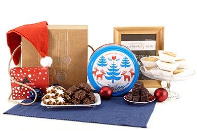 KEKSE & HEISSE SCHOKOLADE weihnachtlicher Geschenkkorb