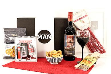 Männergeschenke mit USA Rotwein American Wings
