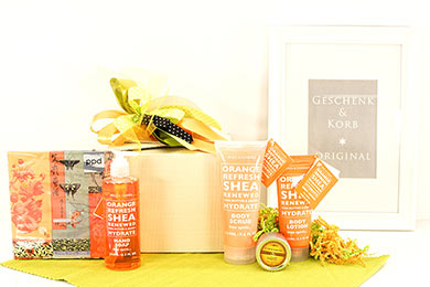 Spa Geschenke mit Orange Shea - Geschenkversand