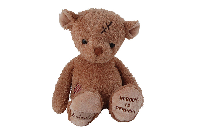 Teddy Geschenke NOBODY IS PERFECT by Bukowski