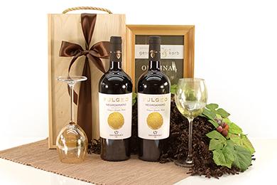 Wein Geschenkset mit Fulgeo Negroamaro