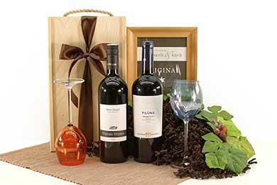 Weingeschenk mit österreichischem und italienischem Wein