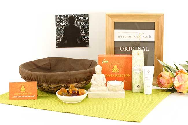 Geschenkkorb Buddha zum Geburtstag